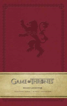 Game of Thrones: House Lannister Ruled Pocket Journal, Notebook / blank book Book