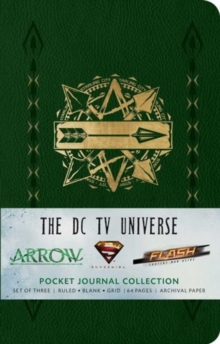 The DC TV Universe : Pocket Journal Collection Set of 3, Notebook / blank book Book
