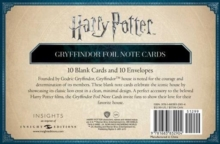 Harry Potter: Gryffindor Foil Note Cards : Set of 10, Kit Book