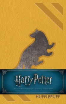 Harry Potter Hufflepuff Hardcover Ruled Journal : Redesign, Notebook / blank book Book