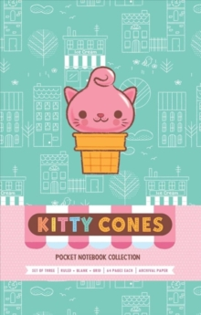 Kitty Cones : Pocket Notebook Collection Set of 3, Notebook / blank book Book