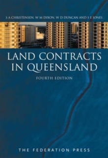 Land Contracts in Queensland, Paperback Book