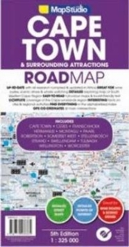 Road map Cape Town & surroundind attractions, Sheet map, folded Book