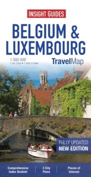 Insight Travel Maps: Belgium and Luxembourg, Sheet map Book