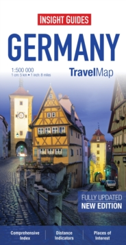 Insight Guides Travel Maps Germany, Sheet map Book