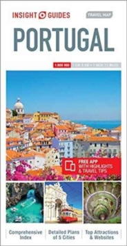 Insight Guides Travel Map Portugal, Sheet map Book