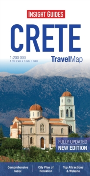 Insight Guides Travel Map Crete, Sheet map Book