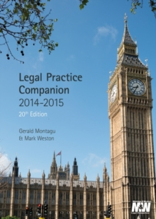 Legal Practice Companion 2014/15, Paperback / softback Book