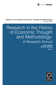 Research in the History of Economic Thought and Methodology : A Research Annual, Hardback Book