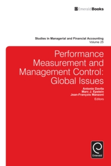 Performance Measurement and Management Control : Global Issues, Hardback Book