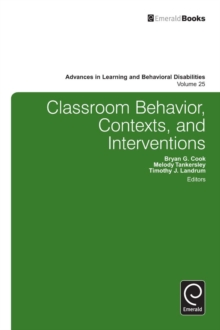 Classroom Behavior, Contexts, and Interventions, Hardback Book