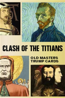 Clash of the Titians : Old Masters Trump Game, Cards Book