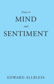 Essays on Mind and Sentiment, Paperback Book