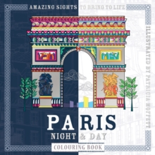 Paris Night & Day Colouring Book, Paperback Book