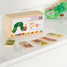 HUNGRY CATERPILLAR WOODEN DOMINOES,  Book