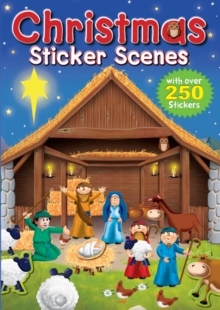 Christmas Sticker Scenes, Paperback Book