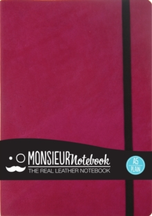 Monsieur Notebook - Real Leather A5 Pink Plain, Leather / fine binding Book