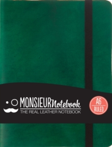 Monsieur Notebook Leather Journal - Green Ruled Small A6, Leather / fine binding Book