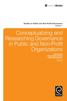 Conceptualizing and Researching Governance in Public and Non-Profit Organizations, Hardback Book