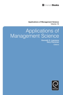 Applications of Management Science, Hardback Book