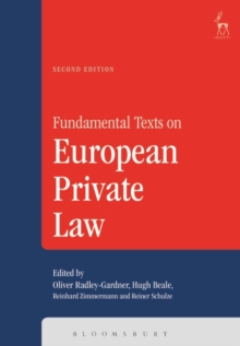 Fundamental Texts on European Private Law, Paperback Book