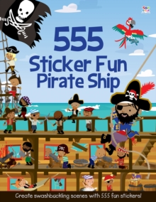 555 Sticker Fun Pirate Ship, Paperback Book