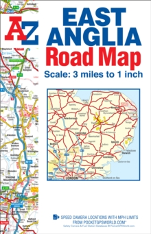 East Anglia Road Map, Sheet map, folded Book