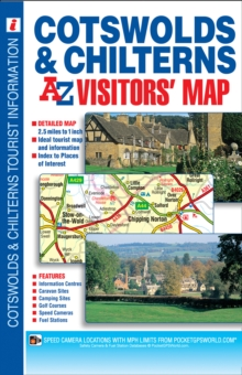 Cotswold & Chilterns Visitors Map, Sheet map, folded Book