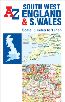 South West England & South Wales Road Map, Sheet map, folded Book