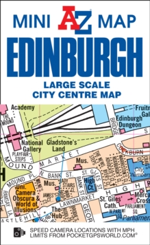 Edinburgh Mini Map, Sheet map, folded Book
