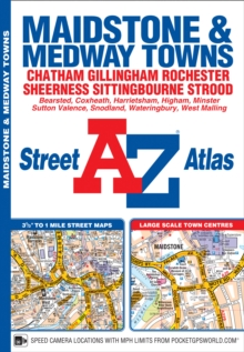 Maidstone & Medway Towns Street Atlas, Paperback / softback Book