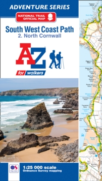 SW Coast Path North Cornwall Adventure Atlas, Paperback Book
