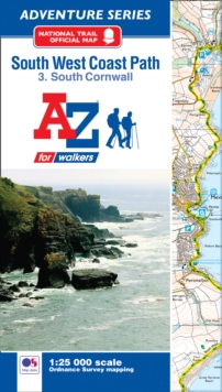 SW Coast Path South Cornwall Adventure Atlas, Paperback Book