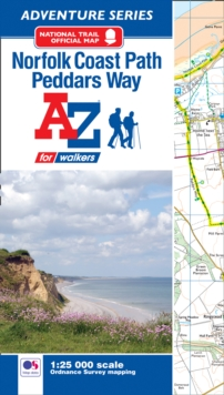 Norfolk Coast Path Adventure Atlas, Paperback / softback Book