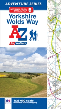 Yorkshire Wolds Way Adventure Atlas, Paperback Book