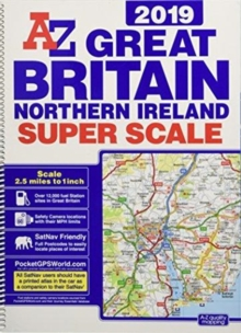 Great Britain Super Scale Road Atlas 2019 (A3 Spiral), Spiral bound Book