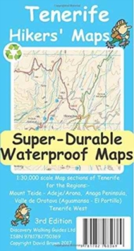 Tenerife Hikers Maps, Sheet map, folded Book