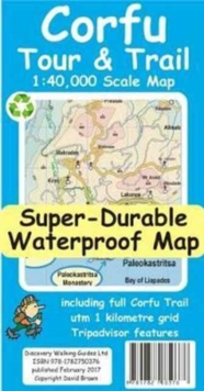 Corfu Tour and Trail Super-Durable Map, Sheet map Book