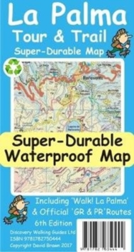 La Palma Tour & Trail Super-Durable Map, Sheet map Book