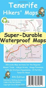 Tenerife Hikers' Super-Durable Maps, Sheet map, folded Book