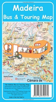 Madeira Bus & Touring Map 7th edition, Sheet map Book