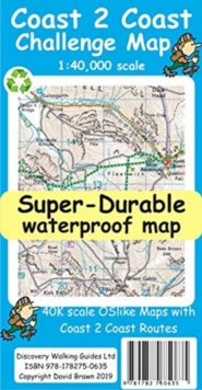 Coast to Coast Super-Durable Challenge Map, Sheet map, folded Book