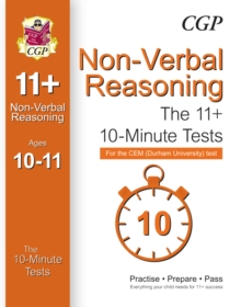 10-Minute Tests for 11+ Non-Verbal Reasoning (Ages 10-11) - CEM Test, Paperback / softback Book