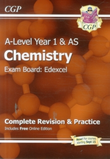 A-Level Chemistry: Edexcel Year 1 & AS Complete Revision & Practice with Online Edition, Paperback / softback Book