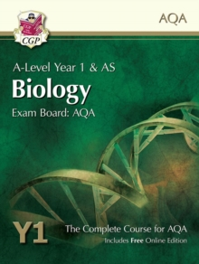 A-Level Biology for AQA: Year 1 & AS Student Book with Online Edition, Paperback / softback Book