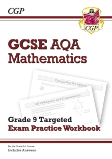 New GCSE Maths AQA Grade 8-9 Targeted Exam Practice Workbook (includes Answers), Paperback Book