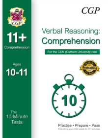 10-Minute Tests for 11+ Comprehension (Ages 10-11) - CEM Test, Paperback Book