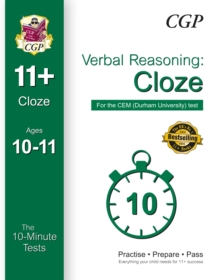 10-Minute Tests for 11+ Verbal Reasoning: Cloze Ages 10-11 (Book 1) - CEM Test, Paperback Book