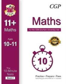 10-Minute Tests for 11+ Maths Ages 10-11 (Book 2) - CEM Test, Paperback Book