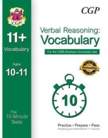 10-Minute Tests for 11+ Verbal Reasoning: Vocabulary Ages 10-11 - CEM Test, Paperback Book